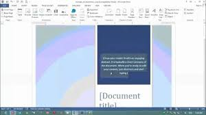 how to make cover page in ms word for design purpose
