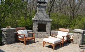 outdoor fireplace paver patio: landscape image featured pavers landscape image