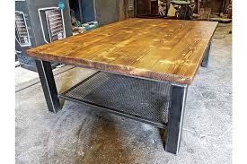 industrial style coffee table rustic industrial furniture handmade to any size photo 1