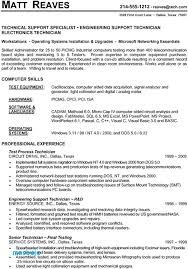 It Support Specialist Resume Examples Resume