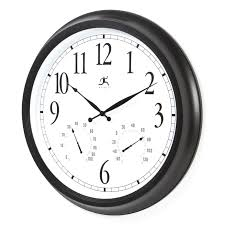 full image for chic 24 wall clock 45 24 atomic outdoor wall clock infinity instruments oversized