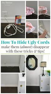 How To Hide Unsightly Lamp Cords - foxhollowcottage.com - #DamageFreeDIY  #sp #