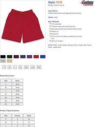 Badger Sportswear Size Chart Badger 7210 Coachs Shorts