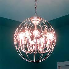 diy make en wire plastic steel basket chandelier