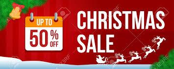 Christmas Sale Banner With Fir Branch And Calendar Santa Claus