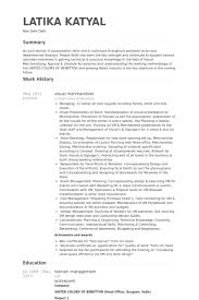 Visual Merchandising Resume Sample 19 Download Com Fashion Samples