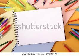 student desk top view.  Desk Student Desk Art Sketch Book Pencils Crayons Top View 271513175 To Desk Top View T