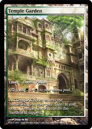 temple garden mtg altered art temple gardens mtg art magic the gathering cards