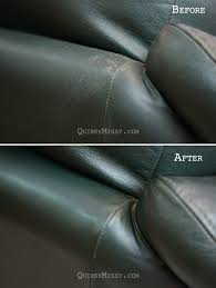 homemade leather cleaner and restoration of old leather couch tutorial