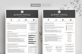 Simple Resume Template Anata Resume Templates Creative Market