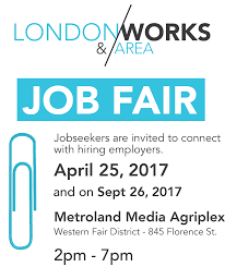 london and area works job fair tickets tue apr at  job seekers are invited to connect hiring employers