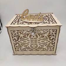 wedding card box wooden money gift wishing well advice boxes decor lock diy wedding favors