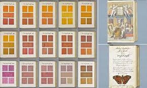 President Paint Color Chart 17th Century Hand Painted 800 Page Book That Listed Every