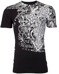 Affliction T Shirt Size Chart Archaic Affliction Men T Shirt Impact Cross Biker Ufc