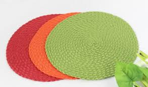woven round dining placemat dining table mat images