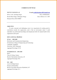 Profile Title For Fresher Resume Resume Template