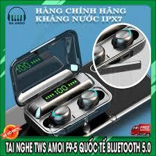 Tai Nghe Bluetooth Amoi F9 Pro Max /R3 Quốc Tế - Tiếng anh - BLT 5.0 -  Freeship, Chống nước, chống ồn, có DAC giảm chỉ còn 350,000 đ