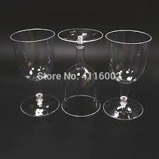 plastic wine glass ml disposable reusable transpa fruit juice cup party wedding glasses bulk heavy plastic reusable stemless wine glass