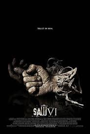 saw 6 breathing trap. gears and machinery form the shape of a vi. title film is saw 6 breathing trap