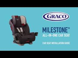 graco milestone car seat installation
