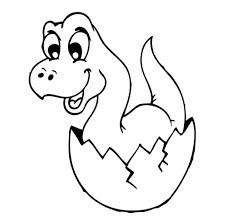 Malvorlagen und malbücher tragen maßgeblich zu einer effektiven förderung der kreativität unserer jüngsten bei. Kostenlose Malvorlage Dinosaurier Und Steinzeit Dinosaurier Baby Im Ei Zum Ausmalen
