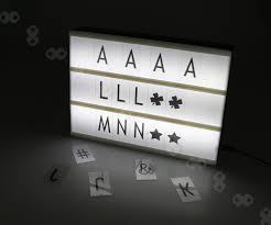 Led Light Box Sign Details About A4 Led Light Up Letter Box Cinematic Sign Wedding Party Cinema Plaque Shop