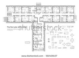 furniture floor plans. Standard Hotel (hostel) Furniture Symbols Set Used In Architecture Plans, Planning Icon Floor Plans T