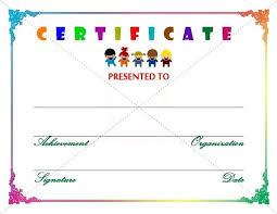free preschool certificates award certificate template for preschool para sys