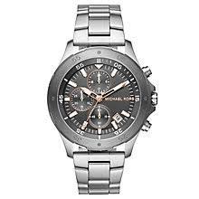 michael kors watches designer watches ernest jones michael kors walsh men s stainless steel bracelet watch product number 6426042