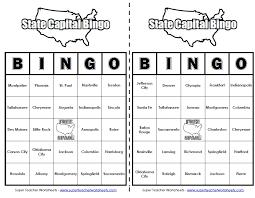 States & Capitals Bingo