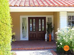 traditional fiberglass double entry door 2 30x80 jeld wen a110 mahogany skin stained