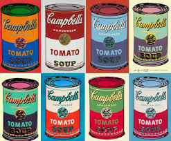 Image result for campbell's soup cans warhol
