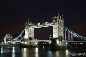 Тауэрский мост в Лондоне Ночной вид Тауэрского моста
