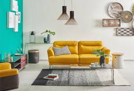 modern stylish furniture. Imbue Tropical Vibes Into Your Living Space With The Full-leather Mando  Sofa. Its Bright Yellow Hue Will Definitely Be Centrepiece Of Room, Modern Stylish Furniture