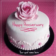 Anniversary Cake Images With Name Editor Kinds Of Cakes Onteevocom