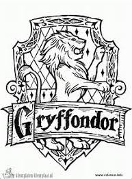 Images Of Harry Potter Gryffindor Crest Coloring Pages Golfclub