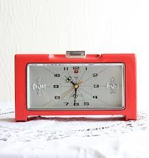vintage alarm clock working 1970 s retro by vintagecorner42