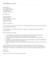 cabinet maker cover letter cover letter for principal position andone brianstern co