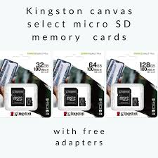 COD Free Gửi Adapter + Đầu Đọc Thẻ, Bộ Chuyển Đổi Thẻ Nhớ Kingston Micro SD  SDHC Chính Hãng 100% Thẻ TF Class 10 16GB 32GB 64GB & Thẻ SD