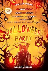 Halloween Dance Flyer Templates Download The Free Halloween Party Flyer Psd Template Free