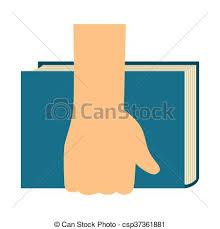 hand holding book csp37361881