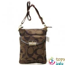 Coach Kristin Lock Small Crossbody Bags Coffee