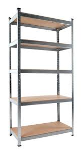 shelf brackets 5 tier shelves storage unit racking industrial home wooden floor