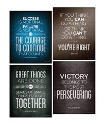 Success Posters Amazon Com Historical Quote Motivational Posters Success Wall Art