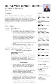Mechanical Project Engineer Sample Resume