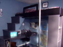 Building A Loft Bed How To Build A Loft Bed With A Desk Underneath Hgtv