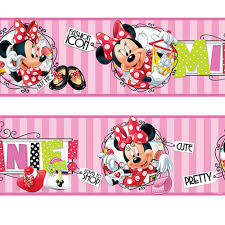 Minnie Mouse Wallpaper For Bedroom Minnie Mouse Fashion Addict Wall Border Great Kidsbedrooms The