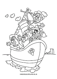 Kleurplaat Stoomboot Sinterklaas Pieten Feestdagen