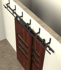 double track by p system barn door hardware kit w 8 ft trk 2 doors 96