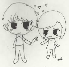 anime chibi couple drawing. Unique Drawing Anime Chibi Couple Drawing Gallery With P